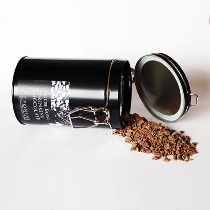 House Blend Drinking Chocolate Tin and Chocolate
