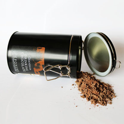 Gianduja Drinking Chocolate Tin and Chocolate
