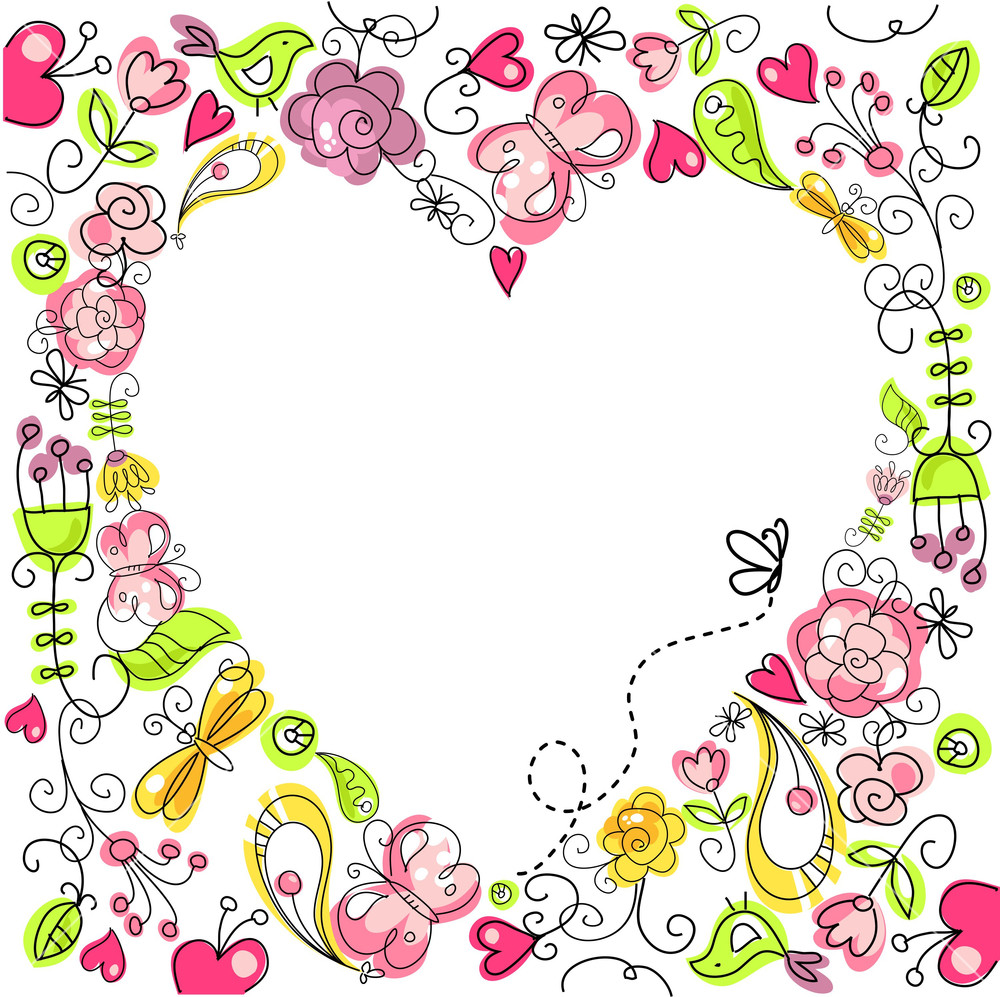 cute-floral-background-with-a-heart-frame