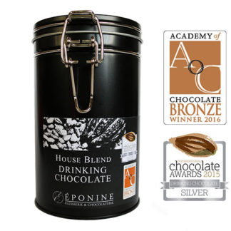 House Blend Drinking Chocolate Tin with Award Logos