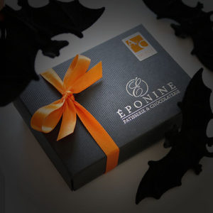 Pumpkin Pie Chocolate Box with Bats