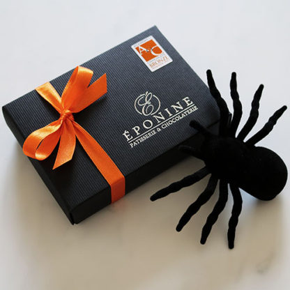 Pumpkin Pie Chocolate Box with Spider