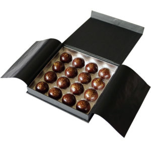 Salted Caramel Chocolate Box Open Angled