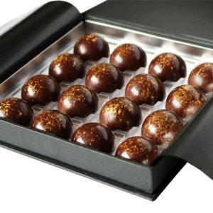 Salted Caramel Chocolate Box Open Closeup