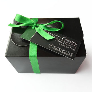 Candied Ginger with Dark Chocolate and Cocoa Nibs Box