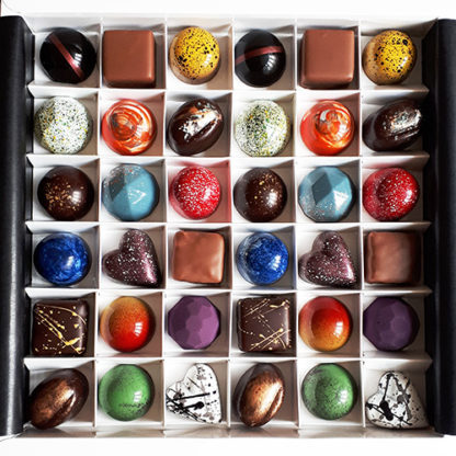 36 Piece Luxury Chocolate Selection Box Overhead