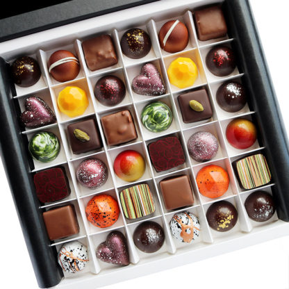 36 Piece Luxury Chocolate Selection Box Open