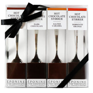 Hot Chocolate Spoon 4 Stirrer Gift Pack Selection Front