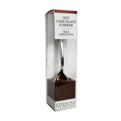 Milk Chocolate Hot Chocolate Spoon Angled
