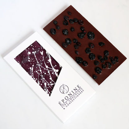Blueberry & Earl Grey Peruvian Dark Chocolate Bar