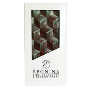 Cherry, Pistachio & Kampot Pepper Dark Chocolate Bar in White Box