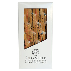 Coffee, Walnut & Blond Chocolate Bar in White Branded Box