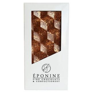 Hazelnut Praline Milk Chocolate Bar in White Branded Box