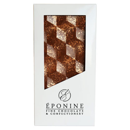 Hazelnut Praline Milk Chocolate Bar in White Branded Box