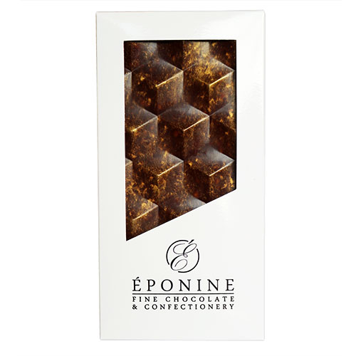 Salted Caramel Dark Chocolate Bar in White Branded Box