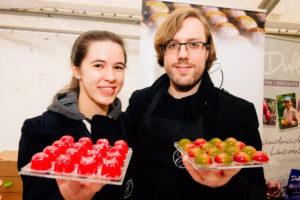 Chris & Natalie with Chocolates - Shropshire Star at Shrewsbury Chocolate Festival