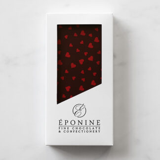 Valentine's Heart Dark Chocolate Bar in White Branded Box
