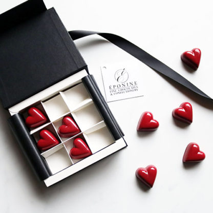 Red Heart Chocolates and Chocolate Gift Box Overview
