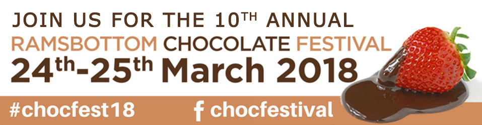Ramsbottom Chocolate Festival Banner 2018 #chocfest18 Dates 2018