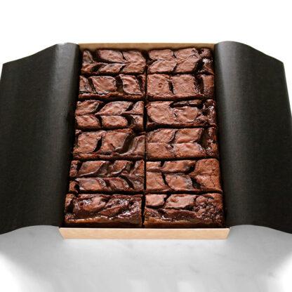 Salted Caramel Brownie Box Open Portrait