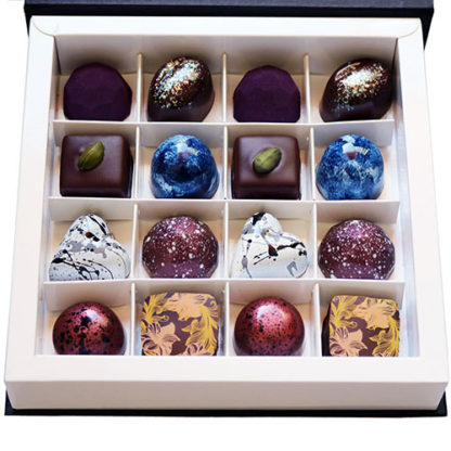Vegan Collection Chocolate Box Open Closeup