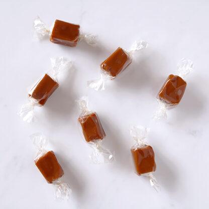 Sea Salted Vanilla Butter Caramels Overhead