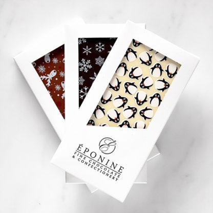 Christmas Chocolate Bars Fanned Overhead