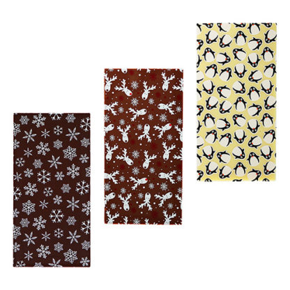 Christmas Chocolate Bars - Snowflakes, Reindeer and Penguin