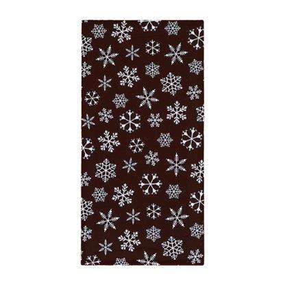 Snowflake Christmas Dark Chocolate Bar Unboxed