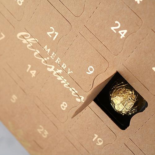 Luxury Vegan Advent Calendar with Wrapped Chocolate Inside