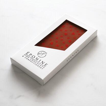Valentine's Heart Milk Chocolate Bar Angled Box