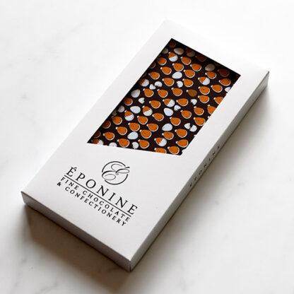 Easter Dark Chocolate Bar Angled in Box