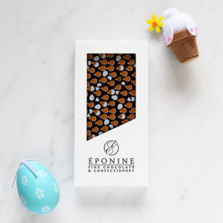 Easter Dark Chocolate Bar in White Branded Box with Decorations
